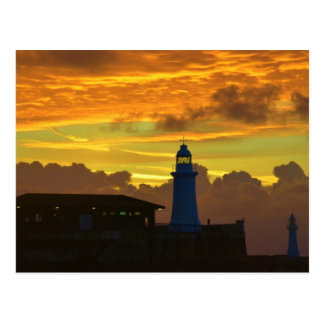Lighthouse At Dawn Post Card
