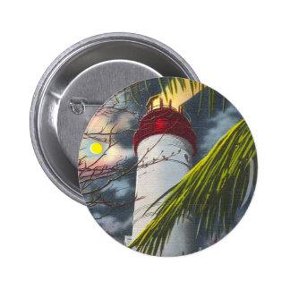 Lighthouse at night Key West Florida Pins