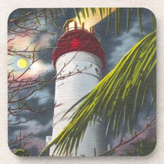 Lighthouse at night Key West, Florida Coaster