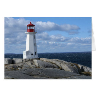 Lighthouse at Peggy s Cove Greeting Card