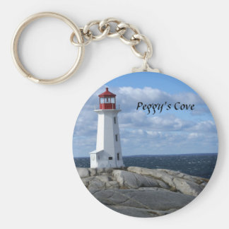 Lighthouse at Peggy's Cove Basic Round Button Key Ring
