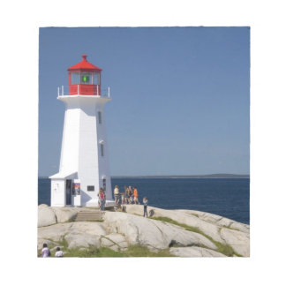 Lighthouse at Peggy's Cove, Nova Scotia, Canada. Notepad