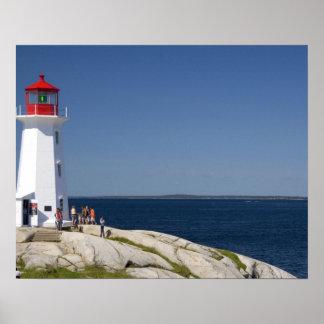 Lighthouse at Peggy's Cove, Nova Scotia, Canada. Poster