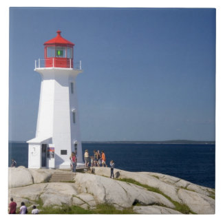 Lighthouse at Peggy's Cove, Nova Scotia, Canada. Tile