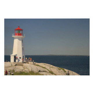 Lighthouse at Peggy's Cove, Nova Scotia, Canada. Wood Wall Decor