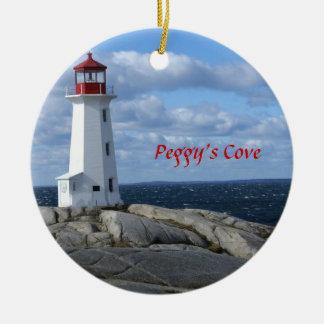 Lighthouse at Peggy's Cove,Nova Scotia Round Ceramic Decoration