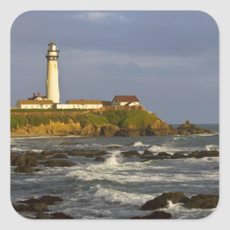 Lighthouse at Pigeon Point State Beach in San 2 Square Sticker