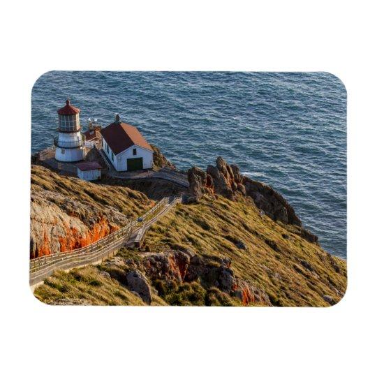 Lighthouse At Point Reyes National Seashore Rectangular Photo Magnet