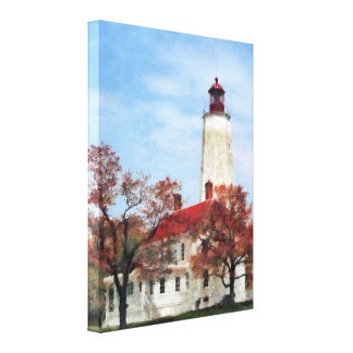 Lighthouse at Sandy Hook Gallery Wrapped Canvas