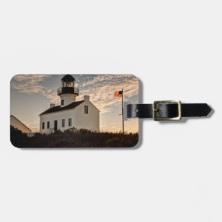 Lighthouse at sunset, California Luggage Tag