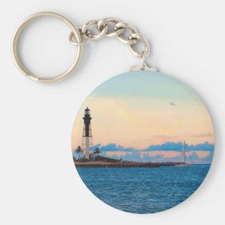 Lighthouse at Sunset Key Ring