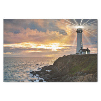 Lighthouse at Sunset Tissue Paper
