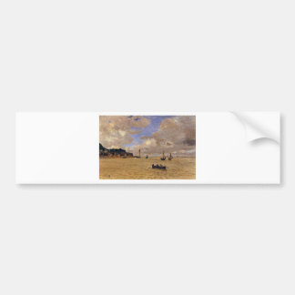 Lighthouse at the Hospice by Claude Monet Bumper Sticker