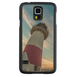 Lighthouse at the Oceanside Harbor Carved Maple Galaxy S5 Case