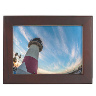 Lighthouse at the Oceanside Harbor Keepsake Box