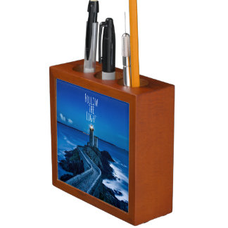 Lighthouse at Twilight Desk Organiser