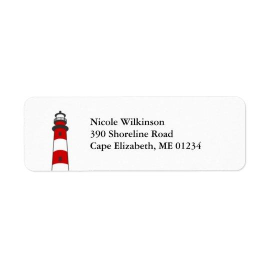 Lighthouse Avery Label