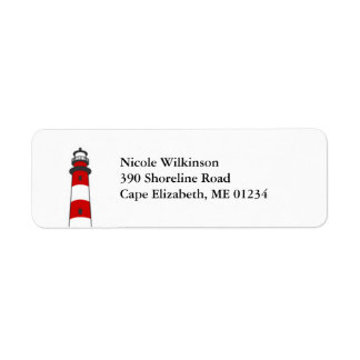 Lighthouse Avery Label Return Address Label