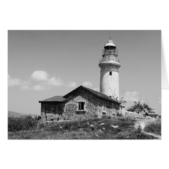 Lighthouse B&W Card