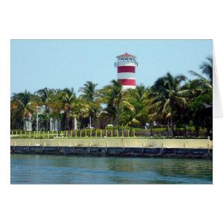lighthouse bahamas greeting card