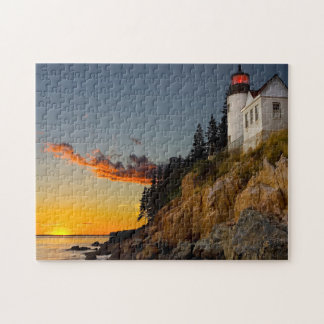 Lighthouse Bar Harbour Maine. Jigsaw Puzzle
