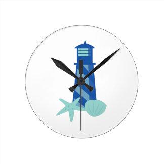 Lighthouse Base Round Clock