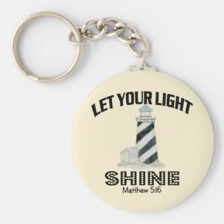 Lighthouse Basic Round Button Key Ring