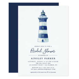 Lighthouse Beach | Bridal Shower Invitation