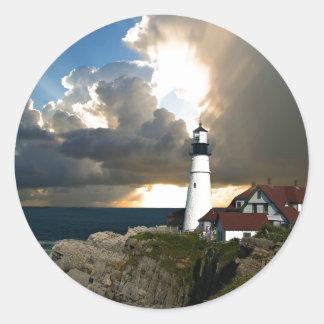 Lighthouse Beacon Classic Round Sticker
