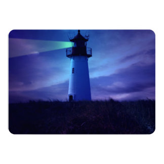 "Lighthouse Beacon 5"" X 7"" Invitation Card"