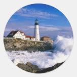 Lighthouse Beauty Round Sticker