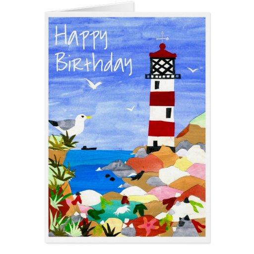 Lighthouse Birthday Card Zazzle