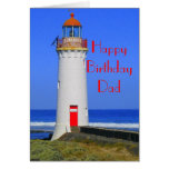 Lighthouse birthday card for Dad