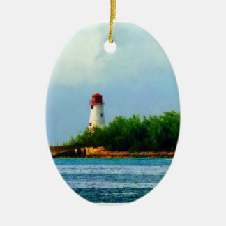 Lighthouse, Boat Nassau Bahamas Christmas Ornament