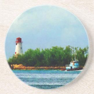 Lighthouse, Boat Nassau Bahamas Coaster