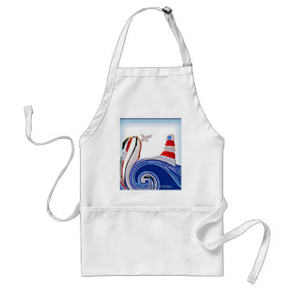 Lighthouse Boat on Stormy Seas Standard Apron