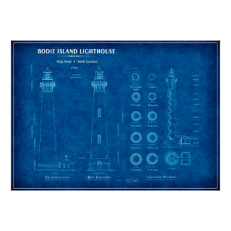 LIGHTHOUSE BODIE ISLAND NORTH CAROLINA POSTER