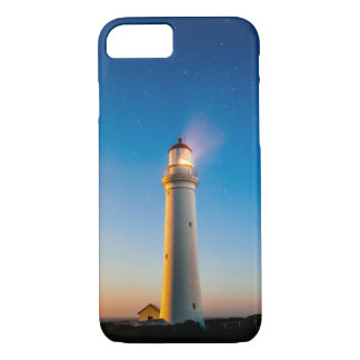 Lighthouse by night iPhone 7 case