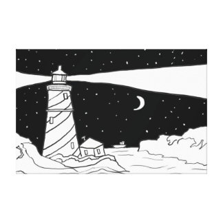 Lighthouse Gallery Wrapped Canvas