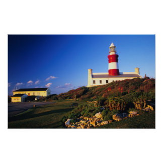 Lighthouse, Cape Agulhas, Western Cape Poster