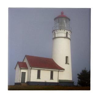 Lighthouse, Cape Blanco, Cape Blanco State Park Small Square Tile