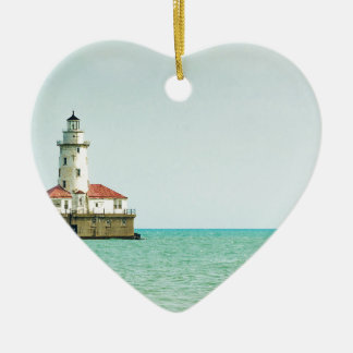 lighthouse ceramic heart decoration