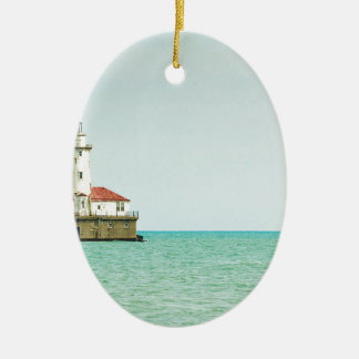 lighthouse ceramic oval decoration