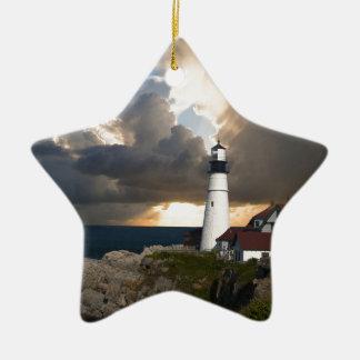 Lighthouse Ceramic Star Decoration