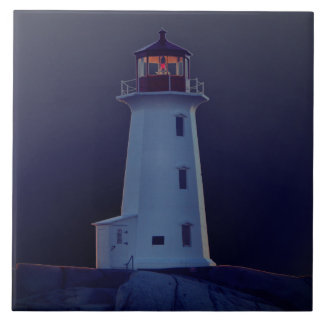 Lighthouse Ceramic tile Or Trivet Or Treasure Box