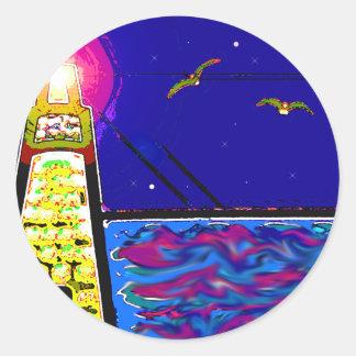Lighthouse Classic Round Sticker