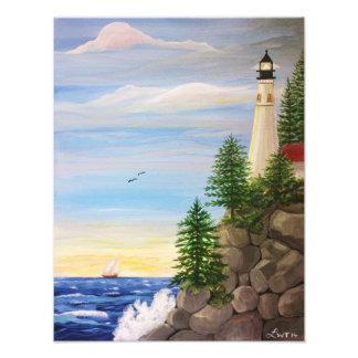 Lighthouse Cliff Photo Print