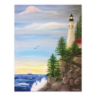 Lighthouse Cliff Photo Print