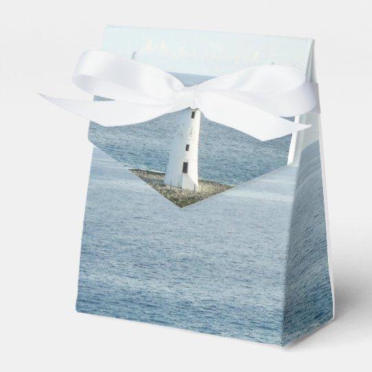 Lighthouse Coastal New England Wedding Favour Box