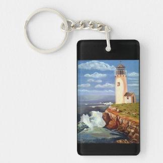 Lighthouse Double-Sided Rectangular Acrylic Key Ring